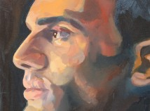 Profile photo of faculty member done as an artistic style, possibly watercolors, showing just Paul's face in profile.